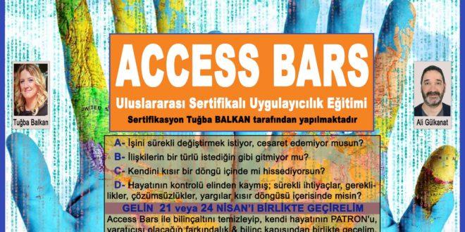 ACCESS BARS Uygulayıcılık Eğitimi – 21 veya 24 Nisan 2018 – İSTANBUL